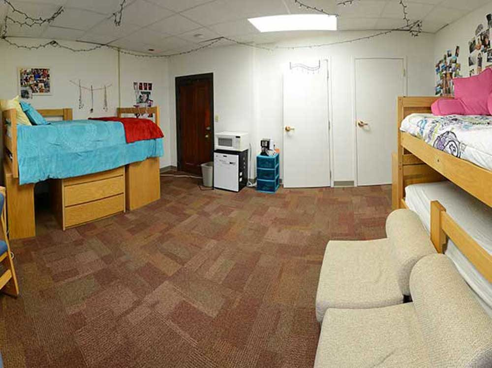 One of the Miller Hall dorm rooms
