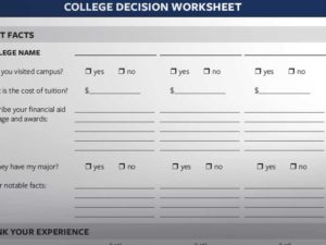 College Decision Worksheet